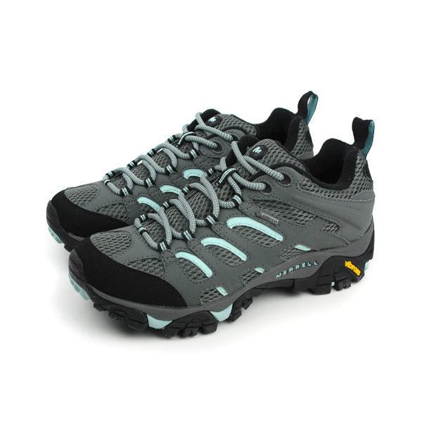 MERRELL MOAB GORE-TEX 灰藍 女 防水登山鞋│健行鞋│休閒鞋