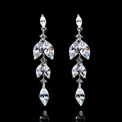 ~925純銀耳環鑲鑽耳飾~ 獨特精緻 生日情人節 女飾品2色73hz6~ ~~米蘭 ~