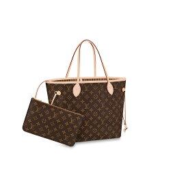 LV【Louis Vuitton】路易威登經典Monogram 花紋 Neverfull MM子母包(M40995)