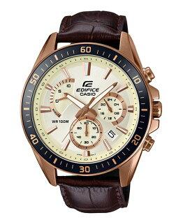 CASIOEDIFICEEFR-552GL-7A賽車儀表概念三眼腕錶白面47mm