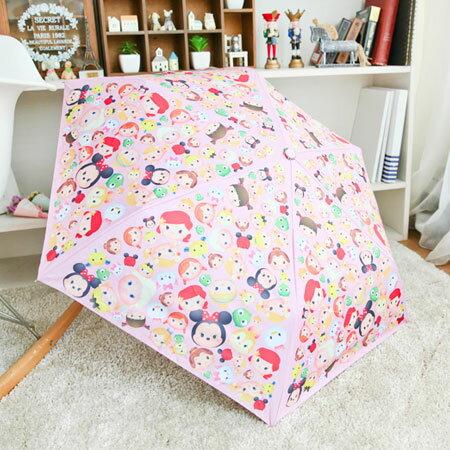 正版 TSUM TSUM 輕量抗UV摺疊晴雨傘 輕量 抗UV 摺疊 折疊 雨傘 陽傘 折傘 迪士尼 DISNEY【N102227】