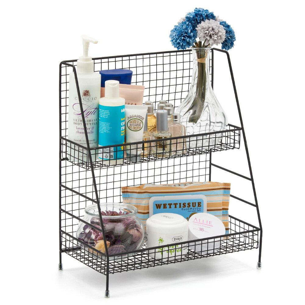 BlueMall 2 Tier Organizer Rack EZOWare Wire Basket Storage