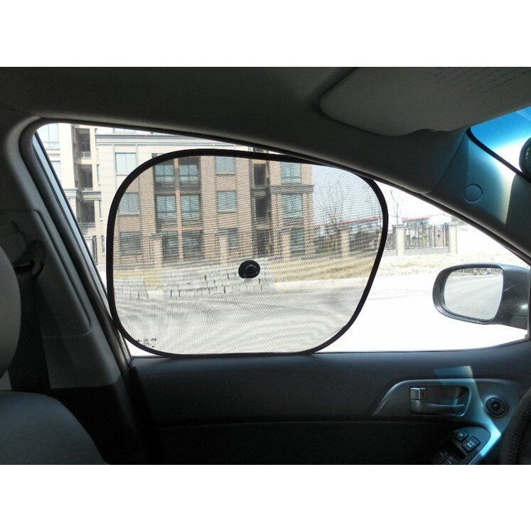 【車用遮陽網-側檔】一組2入 汽車側窗遮陽黑紗網/側檔遮陽板/遮陽網/遮陽簾 遮陽隔熱,有效隔絕陽光直接照射車內