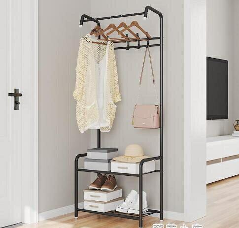 衣架簡易鞋柜衣帽客廳衣服架子柜衣帽架落地鞋架掛衣架組合換鞋凳