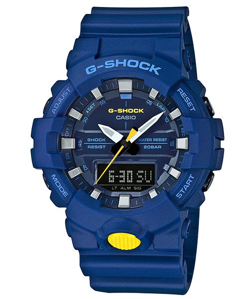 CASIO 卡西歐 獨立秒針數位雙顯運動計時錶 GA-800SC-2A 54.1mm