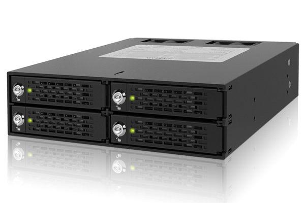 """[良基電腦] ICY DOCK ToughArmor MB994SK-1B 四層 2.5"""" SATA/SAS HDD/SSD 鑰匙鎖 硬碟抽取盒 [天天3C]"""