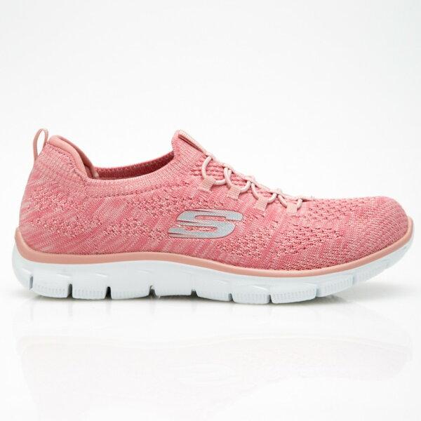 SKECHERSEmpire女鞋慢跑健走記憶鞋墊輕量柔軟舒適粉【運動世界】12418PNK