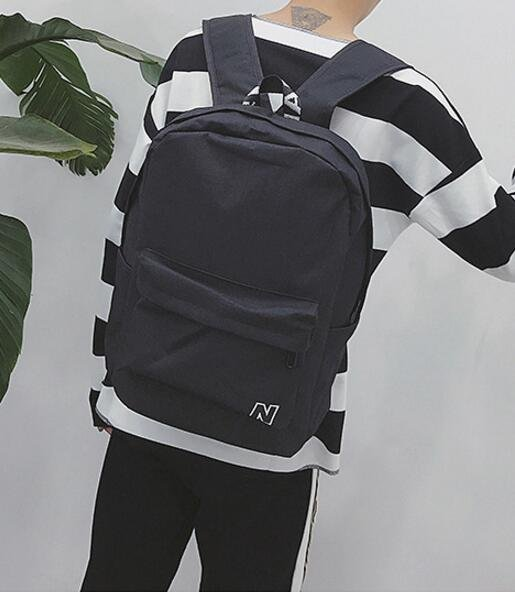 FINDSENSE品牌 日系 時尚潮流 男 N字 帆布包 學生包 旅行背包 多用途背包 書包 後背包 肩背包