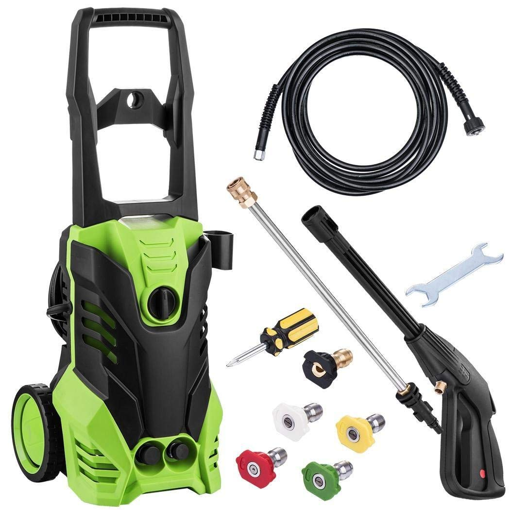 3000 PSI Electric Pressure Washer, High Pressure Washer, Professional  Washer Cleaner Machine with 5 Interchangeable Nozzles, 1800W Rolling  Wheels,1 80