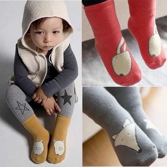 《任意門親子寶庫》秋冬保暖必備 兒童 寶寶【BS164 】小動物加厚毛圈保暖襪 防滑