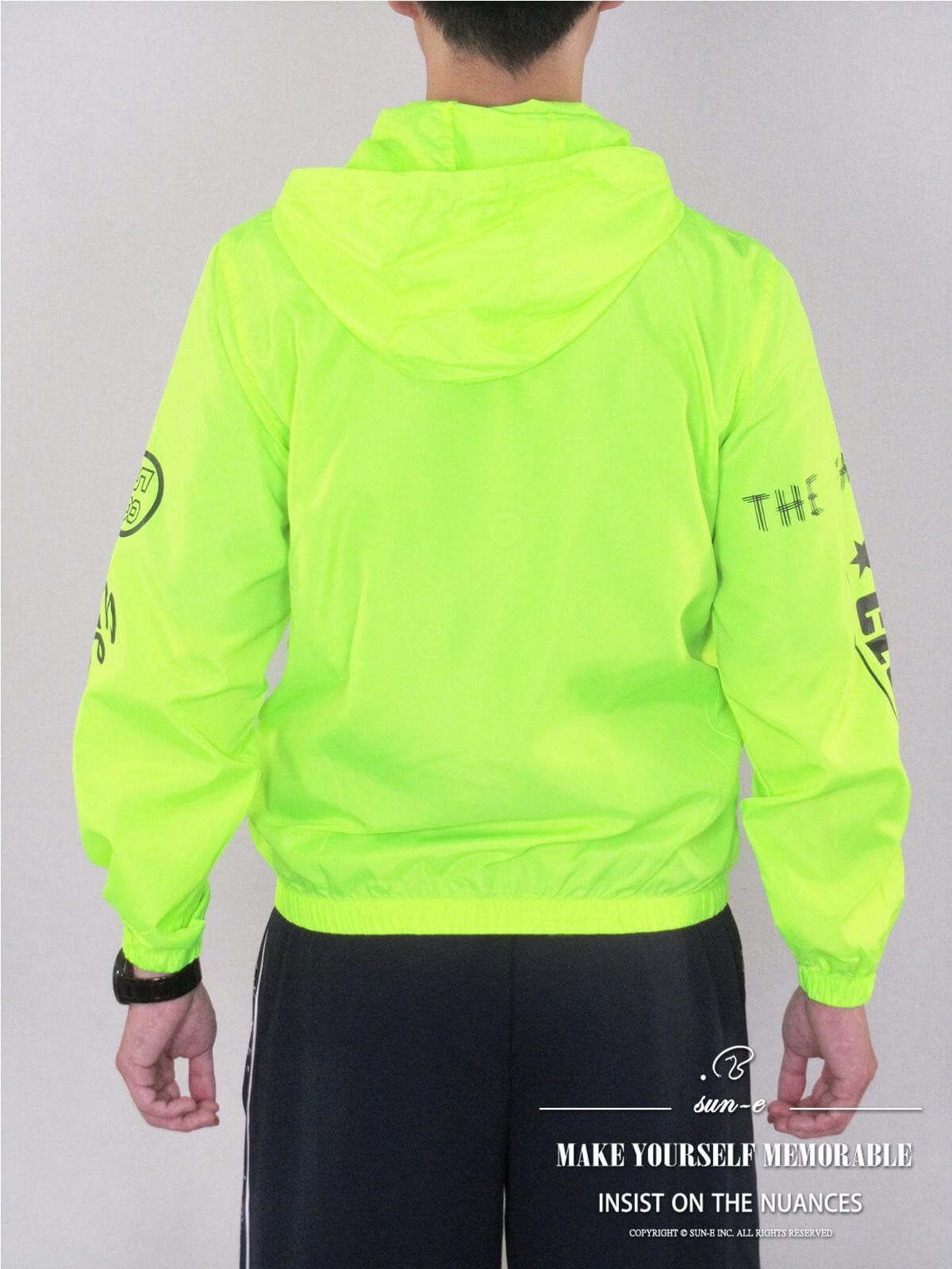 配色薄外套 遮陽防曬休閒外套 防風外套 運動暖身外套 風衣外套 JACKET (321-8878-01)螢光綠、(321-8878-02)深藍色、(321-8878-03)黑色 M L XL 2L(胸圍44~50英吋) [實體店面保障] sun-e 6