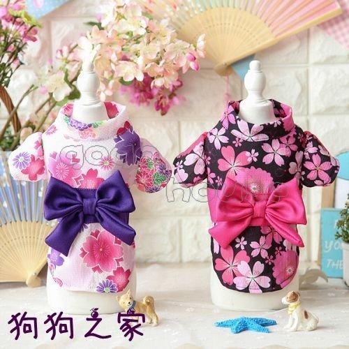 ☆狗狗之家☆Petstyle 日式和服 櫻花 蝴蝶結 和風浴衣