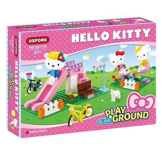 HelloKitty遊樂場溜滑梯積木組KT凱蒂貓積木OXFORD伯寶行