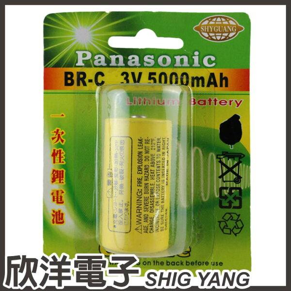 ※欣洋電子※Panasonic一次性鋰電池C(BR-C)3V5000mAh日本製