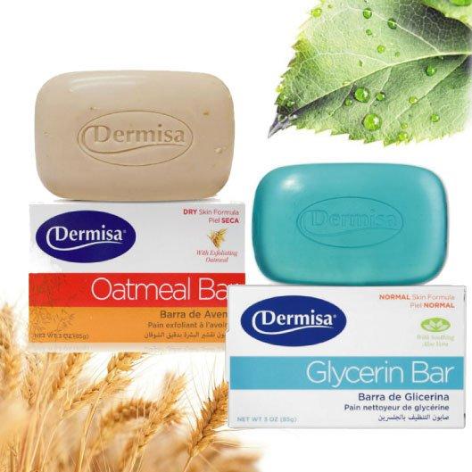 美國Dermisa補水甘油皂去角質燕麥皂85g【櫻桃飾品】【22648】