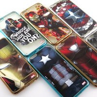 漫威英雄Marvel 周邊商品推薦【MARVEL】iPhone 6 Plus/6s Plus 復仇者聯盟 時尚電鍍保護軟套