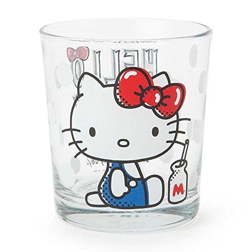 X射線【C389065】Hello Kitty玻璃水杯(側坐),水杯/馬克杯/杯瓶/茶具/生活用品/玻璃杯/不鏽鋼杯