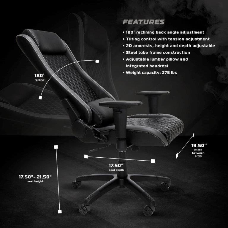 RESPAWN-115 Executive Style Gaming Chair - Reclining Ergonomic Leather Chair, Office or Gaming Chair (RSP-115) 2