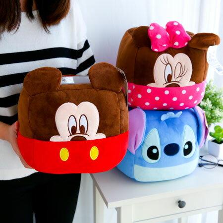 正版迪士尼臉型置物桶 收納筒 置物盒 收納盒 米奇 米妮 史迪奇【sasa.com】