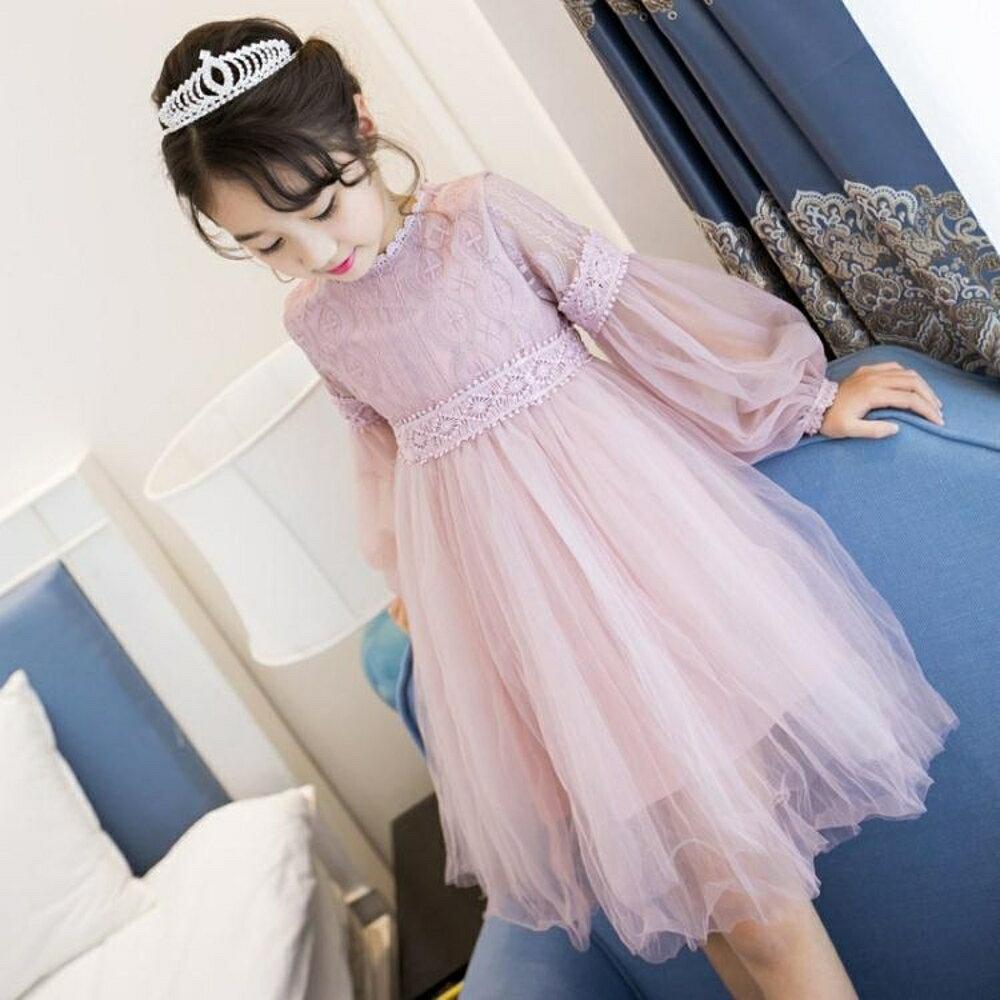 女童洋裝韓版超洋氣新款兒童裙子公主裙小女孩寶  沸點奇跡 雙12購物節