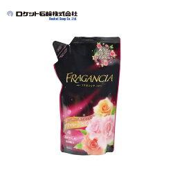 【日本Rocket】Fragancia濃縮衣物柔軟精-玫瑰香氣補充包 600ml