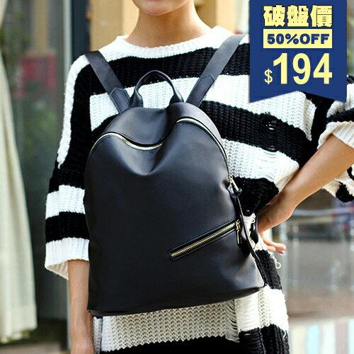 斜嘴笑黑色迷彩輕便尼龍後背包 中性包 包飾衣院 P1839 現貨+預購