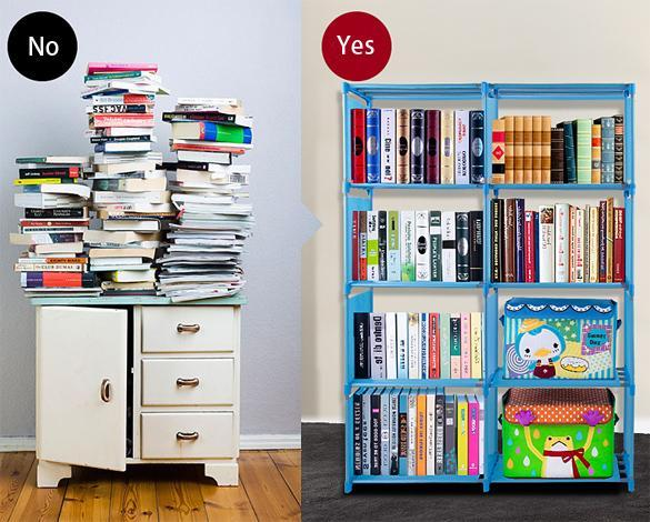 4 layer Adjustable Bookshelf 2