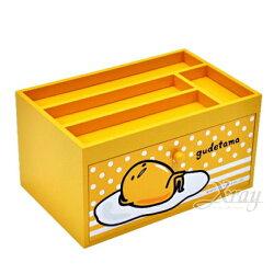 X射線【C990981】蛋黃哥Gudetama 單抽置物盒,置物櫃/收納櫃/收納盒/抽屜收納盒/木製櫃/木製收納櫃/收納箱/桌上收納盒