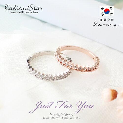 正韓幸福氛圍花圈晶鑽戒指~KAC572~璀璨之星~