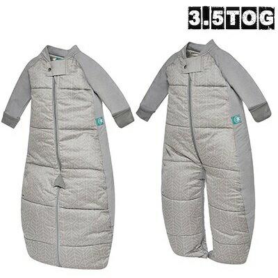 澳洲【ergopouch】2way 有機棉褲型防踢被-灰白葉 (3.5TOG 冬天專用) 0
