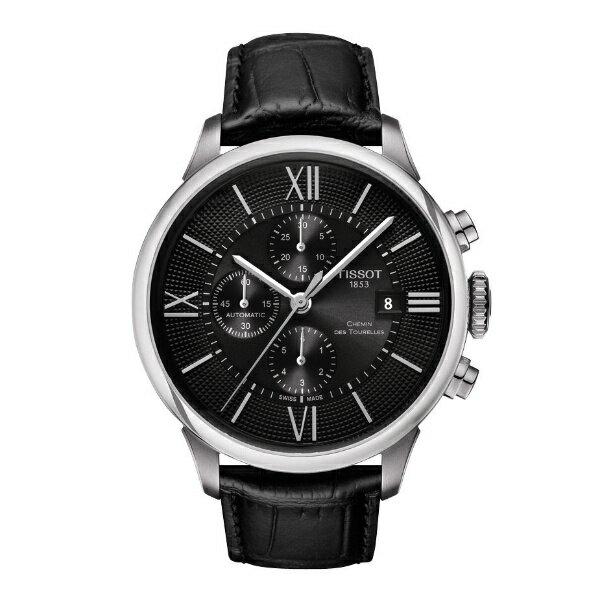 TISSOT天梭T0994271605800 杜魯爾經典計時機械腕錶/黑面44mm