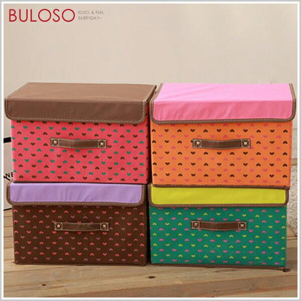 《不囉唆》【A276863】(不挑款)4色中號日式美人心收納箱有蓋整理箱可折疊儲物箱