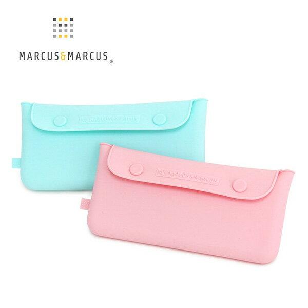 【加拿大MARCUS&MARCUS 】輕巧矽膠餐具收納袋(2色可選)