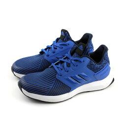 adidas RapidaRun KNIT J 慢跑鞋 運動鞋 藍色 大童 童鞋 AH2609 no614