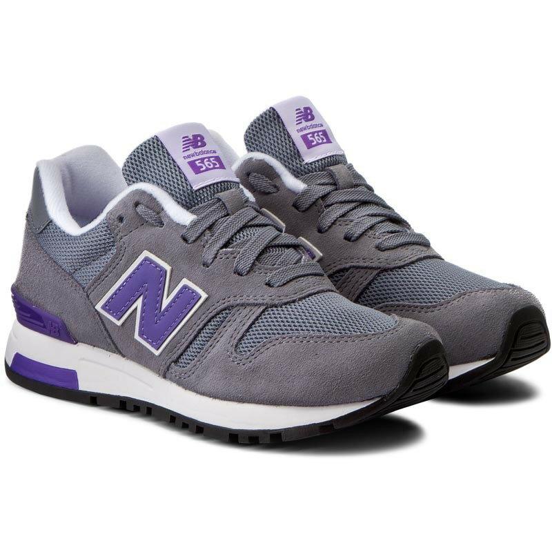 New Balance 565 女鞋 慢跑 休閒 復古 麂皮 網布 灰 紫 【運動世界】 WL565GLW