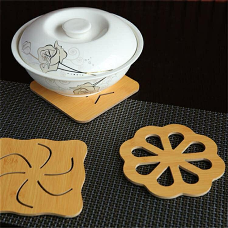 木質餐墊隔熱墊家用防燙墊鍋墊杯墊【櫻田川島】