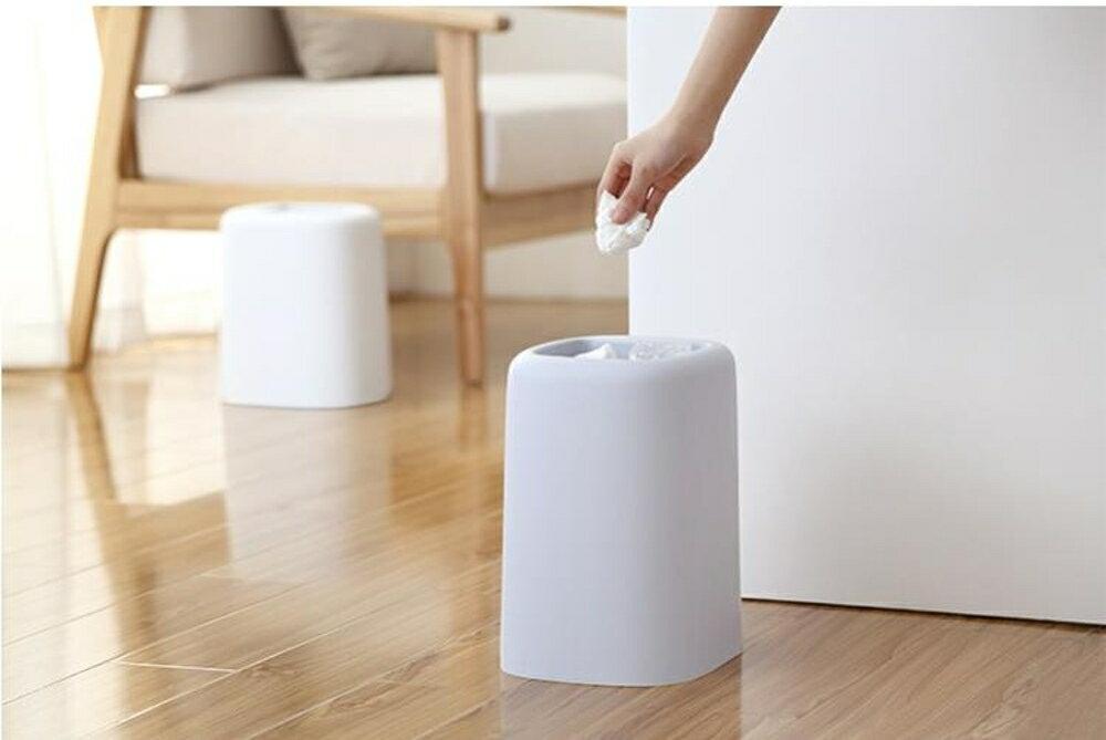 回收桶 創意北歐式廁所家用無蓋垃圾桶客廳衛生間臥室廚房大號垃圾筒紙簍 領券下定更優惠