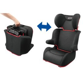 Graco - Portable Junior 幼兒成長型輔助汽車安全座椅(汽座) -黑小摺