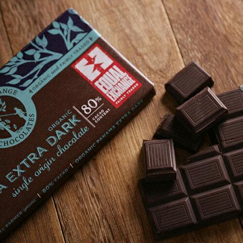 馥聚公平貿易-Equal Exchange有機巴拿馬濃黑巧克力80% 100公克/塊