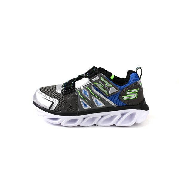 SKECHERS  LIGHTS 運動鞋 電燈鞋 童鞋 灰色 90512LSLBL no982 7