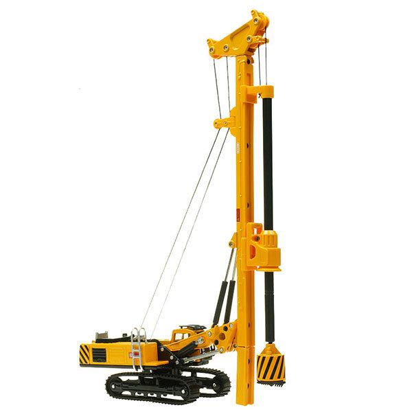 【888便利購】【KDW凱迪威】1:64旋挖鑽機(鑿井機)(黃色)高仿真精裝合金模型(授權)(625021)