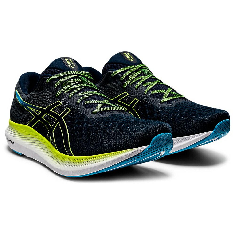 【滿額最高折318】ASICS EvoRide 2 男鞋 慢跑 長跑 緩衝 網布 透氣 輕量 藍 綠 【運動世界】1011B017-401