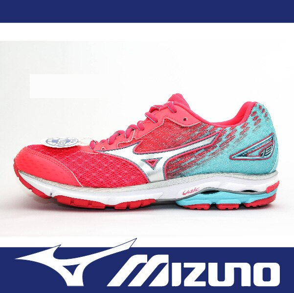 【限時65折!】萬特戶外運動 MIZUNO美津濃 J1GD160608 女慢跑鞋 WAVE RIDER 19 寬楦 耐磨大底 舒適 吸震 漸層 粉+水藍色