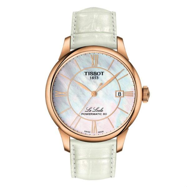 TISSOT天梭T006407361180080小時動力儲存時尚機械腕錶白面39mm