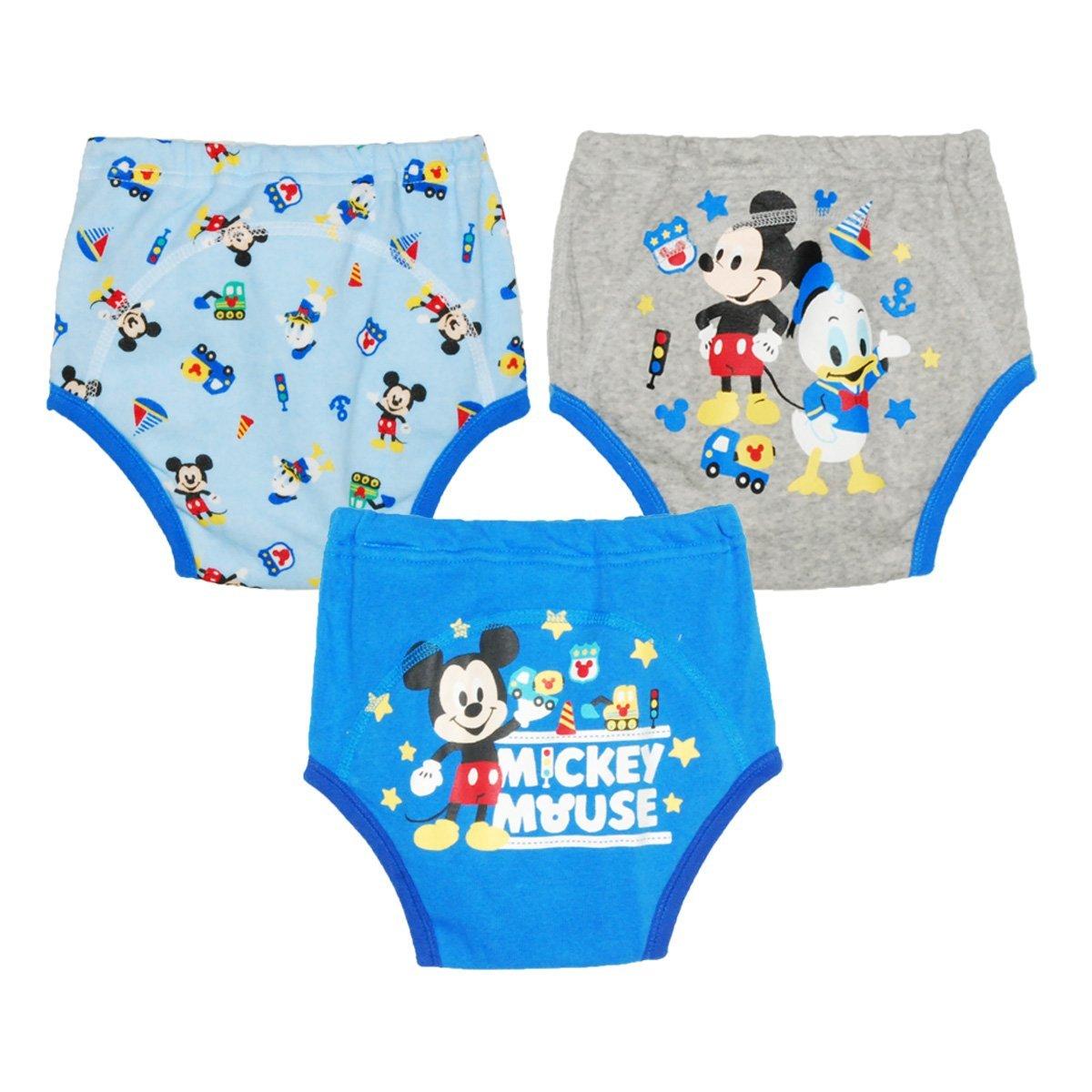【日本進口】日本 迪士尼 Disney 米奇三層學習褲/尿布褲(3件組)(90-100cm)