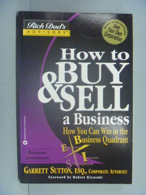 ~書寶 書T3/行銷_YKK~How to Buy    Sell a Business_
