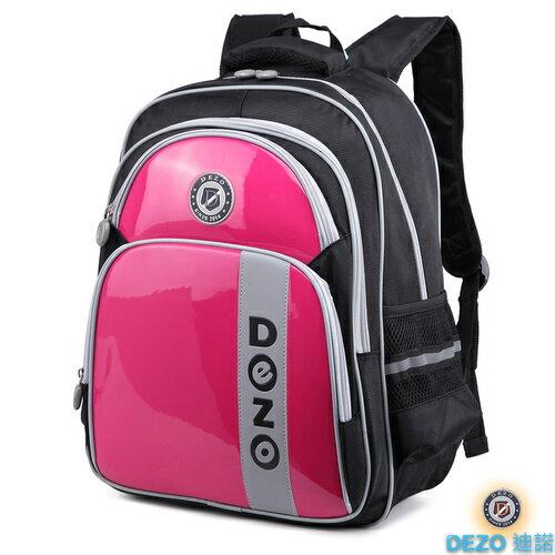 【DEZO迪諾】鏡面配色護脊書包 粉紅色 學生 開學用品 ?朵拉伊露?