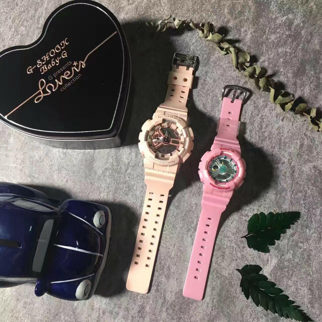 國外代購CASIO G-SHOCK GMA-S110 & BABY-G BA-110CA4A 情侶對錶 雙顯 防水手錶