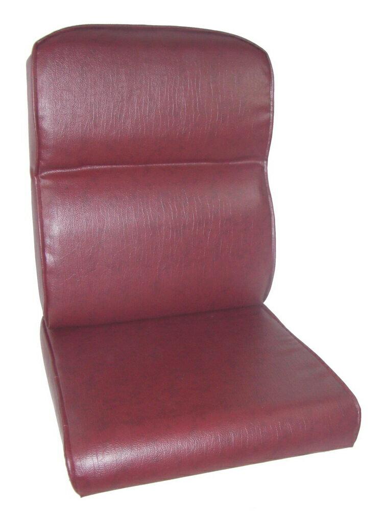 護背式雲彩透氣皮面止滑椅墊