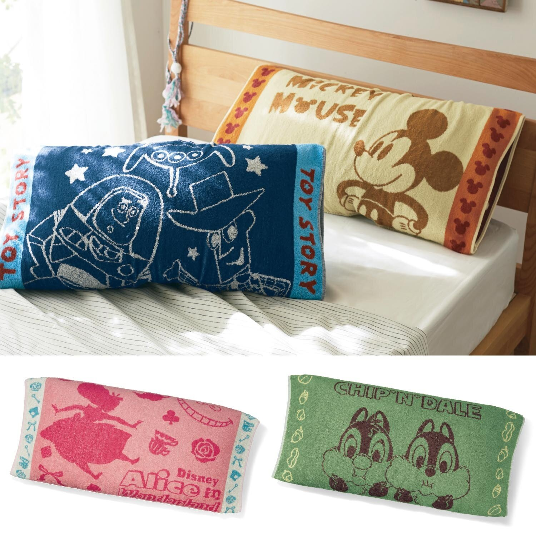 預購 日本迪士尼Disney 米奇米妮 小熊維尼 奇奇蒂蒂 愛麗絲 小美人魚 玩具總動員 卡通人物伸縮枕頭套 共8款